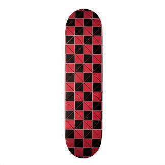 Red and Black Geo Plaid Skateboard Decks