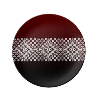 Red and Black gradient and white Nordic Design Plate