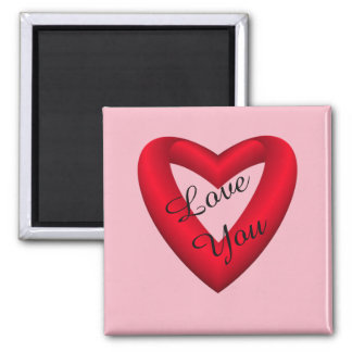 Red and Black Gradient Heart Magnet