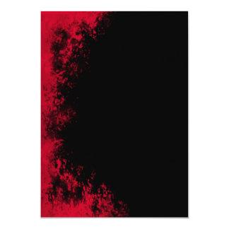 Red and Black Grunge Brush 1 Invitation