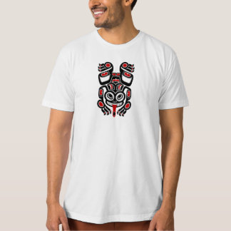 Red and Black Haida Spirit Tree Frog T-Shirt