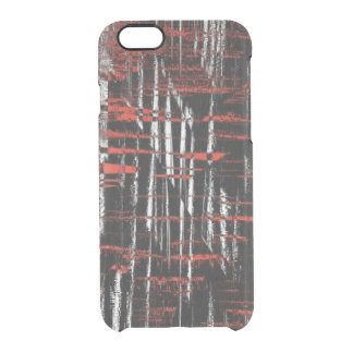Red and Black Hash Tags Clear iPhone 6/6S Case