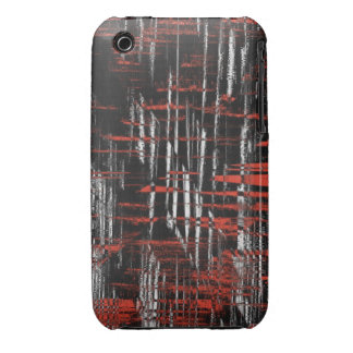 Red and Black Hash Tags iPhone 3 Case-Mate Case