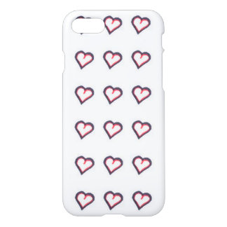 Red and Black Heart pattern iphone 7 case