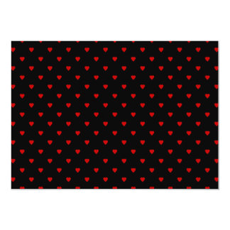 Red and Black Hearts. Pattern. 13 Cm X 18 Cm Invitation Card