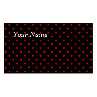 Red and Black Hearts. Pattern. Business Card Template