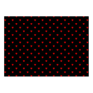 Red and Black Hearts. Pattern. Business Card Templates