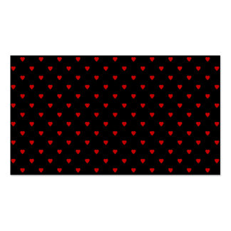 Red and Black Hearts. Pattern. Business Cards