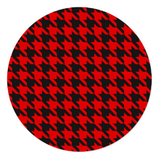Red And Black Houndstooth Pattern Card