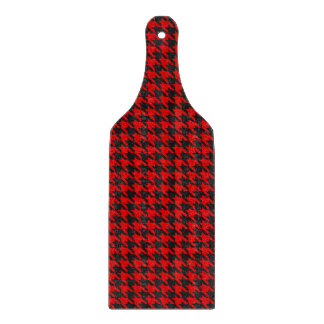 Red And Black Houndstooth Pattern Cutting Board