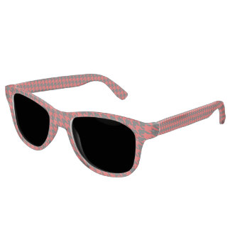 Red And Black Houndstooth Pattern Sunglasses