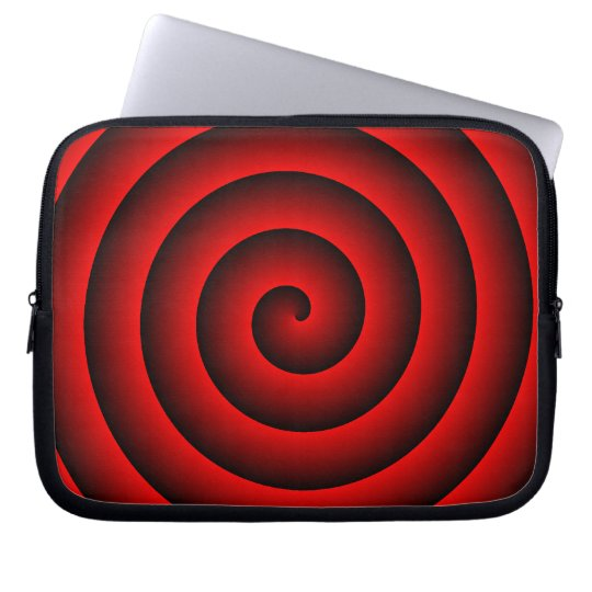 Red and Black Hypnotic Laptop Sleeve