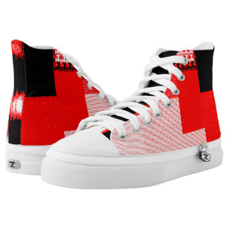 Red and Black III High Tops