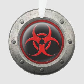 Red and Black Industrial Biohazard Steel Effect