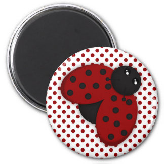 Red and Black Ladybug Magnet