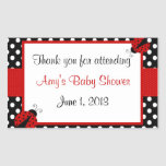 Red and Black Ladybug Thank You Sticker