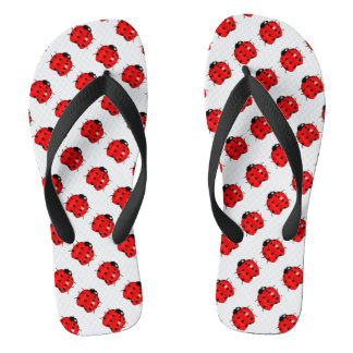 Red and Black Ladybugs Thongs