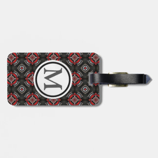 Red and Black Pattern Luggage Tag