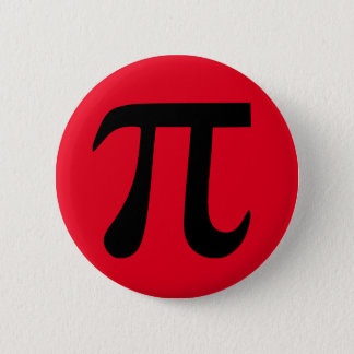 Red and Black Pi Button
