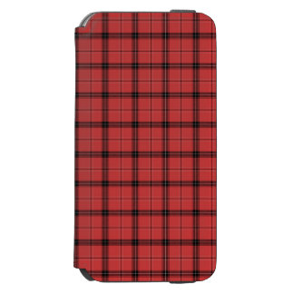 Red and Black Plaid Check Tartan Pattern Incipio Watson™ iPhone 6 Wallet Case