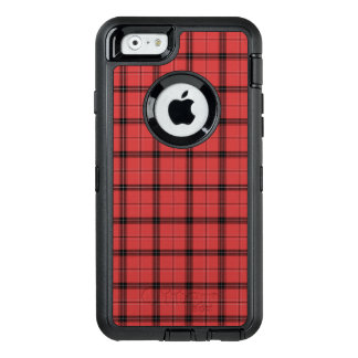 Red and Black Plaid Check Tartan Pattern OtterBox Defender iPhone Case