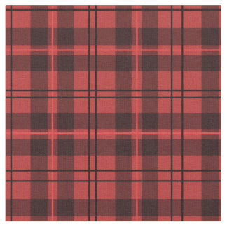 Red and Black Plaid Fabric