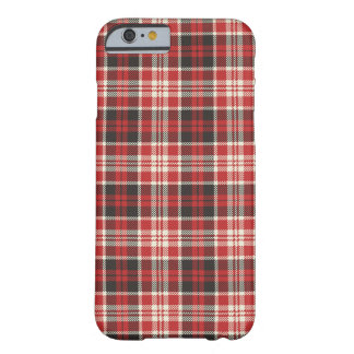 Red and Black Plaid Pattern Barely There iPhone 6 Case
