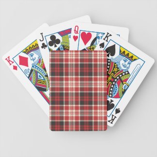 Red and Black Plaid Pattern Bicycle Playing Cards