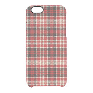 Red and Black Plaid Pattern Clear iPhone 6/6S Case