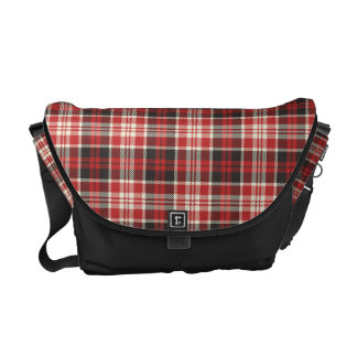 Red and Black Plaid Pattern Commuter Bags