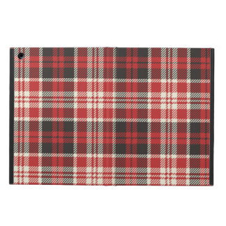 Red and Black Plaid Pattern Cover For iPad Air