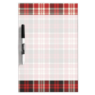 Red and Black Plaid Pattern Dry Erase Board