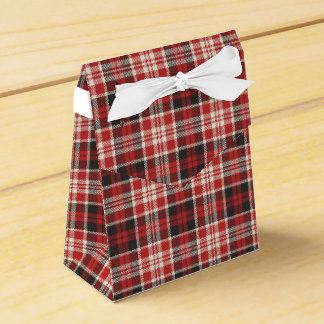 Red and Black Plaid Pattern Favour Box