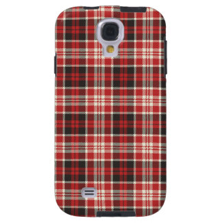 Red and Black Plaid Pattern Galaxy S4 Case