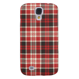 Red and Black Plaid Pattern Galaxy S4 Covers