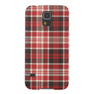 Red and Black Plaid Pattern Galaxy S5 Cover
