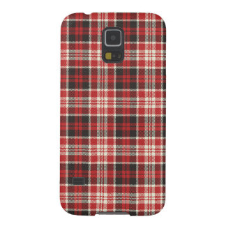 Red and Black Plaid Pattern Galaxy S5 Covers
