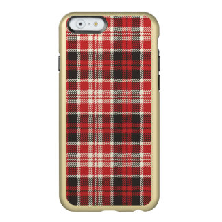 Red and Black Plaid Pattern Incipio Feather® Shine iPhone 6 Case