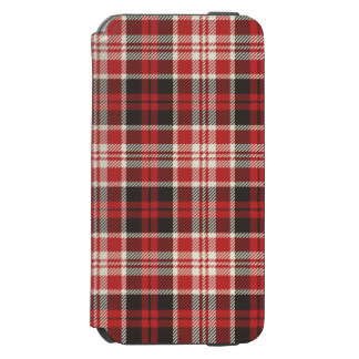 Red and Black Plaid Pattern Incipio Watson™ iPhone 6 Wallet Case
