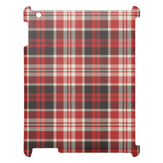 Red and Black Plaid Pattern iPad Cases
