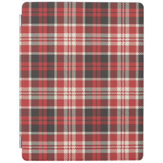 Red and Black Plaid Pattern iPad Cover
