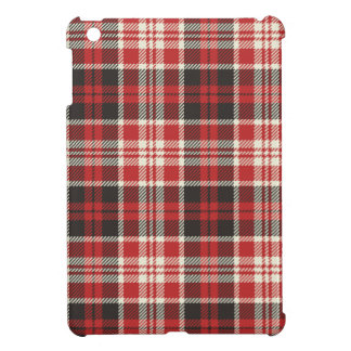 Red and Black Plaid Pattern iPad Mini Cases