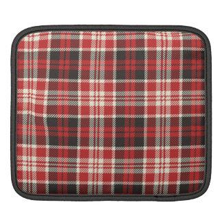 Red and Black Plaid Pattern iPad Sleeve
