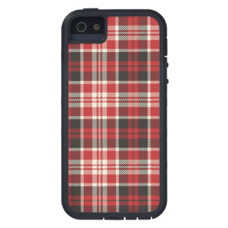 Red and Black Plaid Pattern iPhone 5 Case