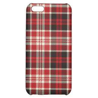 Red and Black Plaid Pattern iPhone 5C Covers