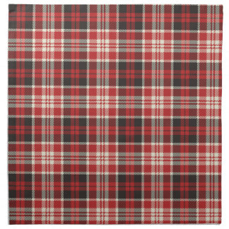 Red and Black Plaid Pattern Napkin