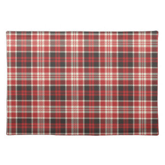 Red and Black Plaid Pattern Placemat