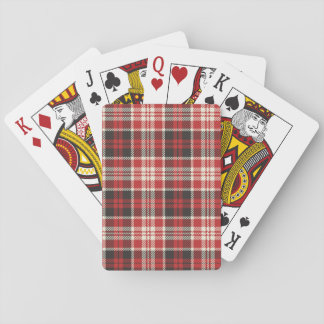 Red and Black Plaid Pattern Playing Cards