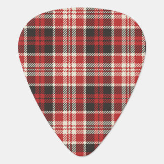 Red and Black Plaid Pattern Plectrum