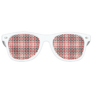 Red and Black Plaid Pattern Retro Sunglasses